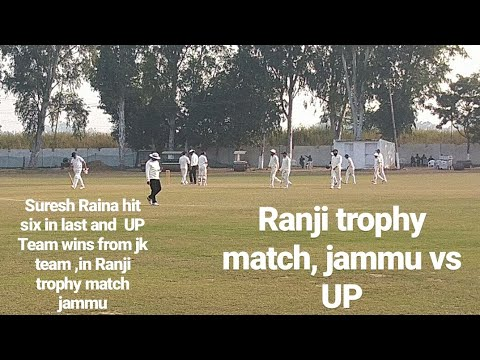 Suresh Raina hit six in last and win the match from JK team, #Ranjitrophyinjammu #jammu