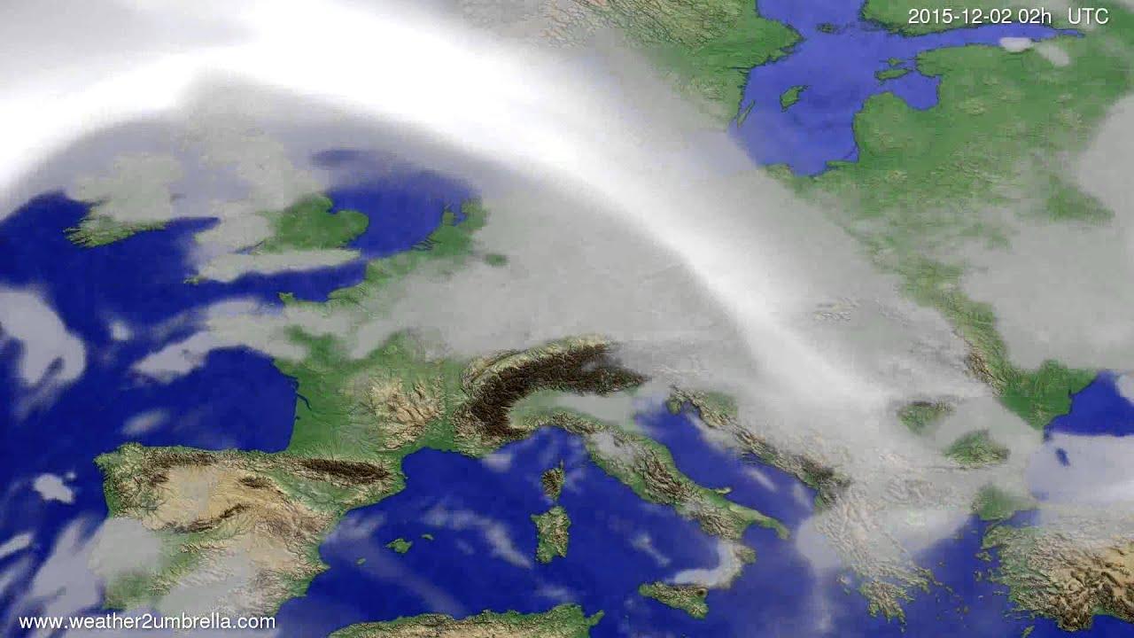 Cloud forecast Europe 2015-11-28