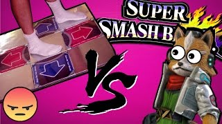 MADMAN plays Smash on a DDR pad (skip to 1:07 for the gameplay)