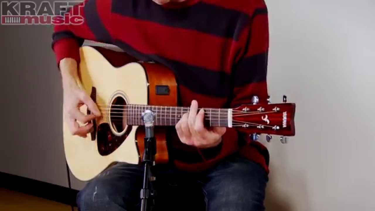 Kraft Music – Yamaha FGX700SC Acoustic Electric Guitar Demo with Jake Blake