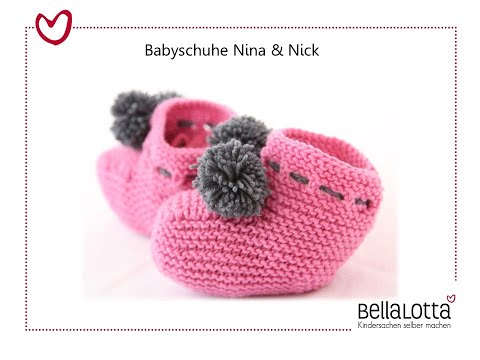 babyschuhe einfach stricken stricken f r anf nger stricken lernen. Black Bedroom Furniture Sets. Home Design Ideas