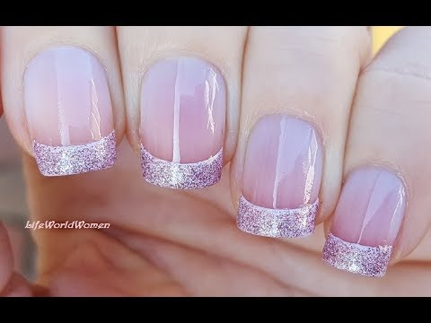 ROSE GOLD FRENCH MANICURE NAIL ART In Easy Way
