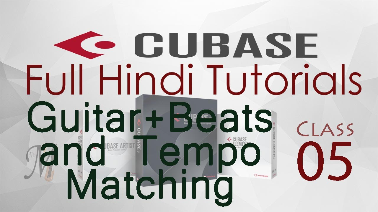 Complete Cubase Tutorials for Beginners in Hindi (Lesson 5: Match Guitar Strum+Beat Audio Samples)