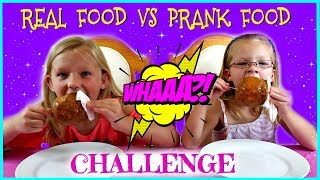 """Magic Box Toys Collector presents: Real Food vs Prank Food Challenge. Is it going to be like yummy food vs gross food challenge? Yes, kind of! The only difference is that we will have the same foods served but we will not know which is the pranked one. Good luck to us! Also if you would like to check our Aunt and Uncle's Channel """" Kinder Surprise World """" please click on this link : https://www.youtube.com/channel/UCImqKQl4EejmOAQNIlQdNxg If you subscribe to their channel you would have a chance of getting a shoutout in our next video : ) Go for it! Thank you all !Thank you again for visiting and please don't forget to share this video with your friends and family : )SUBSCRIBE BUTTON:http://www.youtube.com/c/MagicBoxToysCollectorSurpriseToysSurpriseEggsPlayDohOrbeezHere are our other videos:SHOPKINS SURPRISE EGGS Shopkins Season 4 Sweet Spot Gumball Machinehttps://youtu.be/8zMECGvTPbYBIGGEST SURPRISE EGG Ever! Surprise Toys Eggs Shopkins My Little Pony Doc McStuffins Palace Petshttps://youtu.be/FNLljRlyyvoSURPRISE TOYS GIANT BALLOON POP GIVEAWAY WINNERS ANNOUNCEMENThttps://youtu.be/f02dWmqYwnkBABY ALIVE Snackin' Lily Baby Doll Eats Play-Doh Baby Alive Doll Picnic Brushy Brushy Baby Dollhttps://youtu.be/uxG9NP66IZEDOC McSTUFFINS Pet Vet New Toys Make Me Better Playset Hallie Gets a Color Changing Casthttps://youtu.be/qZ187FqMQWMSHOPKINS SEASON 4 12-Pack Shopkins Season 4 5-Pack Shopkins Season 4 Blind Basketshttps://youtu.be/tIGh0q2fCnkSOFIA THE FIRST Royal Family New Outfits SOFIA THE FIRST Royal Carriage * Carrosse Royalhttps://youtu.be/p9g67lam550MY LIFE AS a School Girl Doll * My Life as a Pop Star Play Set and Accesorieshttps://youtu.be/vPmz1Qfk5QILalaloopsy Girls Candle Slice O'Cake Frosting Dough Decorating Craft Doll * Style'N'Swap Dollhttps://youtu.be/HJTSlOpV6q4BABY ALIVE Better Now Baby Doll Goes to the Doctorhttps://youtu.be/__Bqnt72rU8MY LITTLE PONY POP FLUTTERSHY COTTAGE  My Little Pony RARITY DRESS SHOPhttps://youtu.be/BU3mhXRd0GESOFIA THE FIRST SURPRIS"""