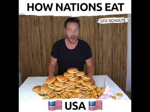Πως τρώνε τα διάφορα έθνη