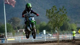 4. 8yr OLD ON KX 65 DIRT BIKE WIDE OPEN!!!!  2012 Lake Elsinore Grand Prix (GoPro footage)