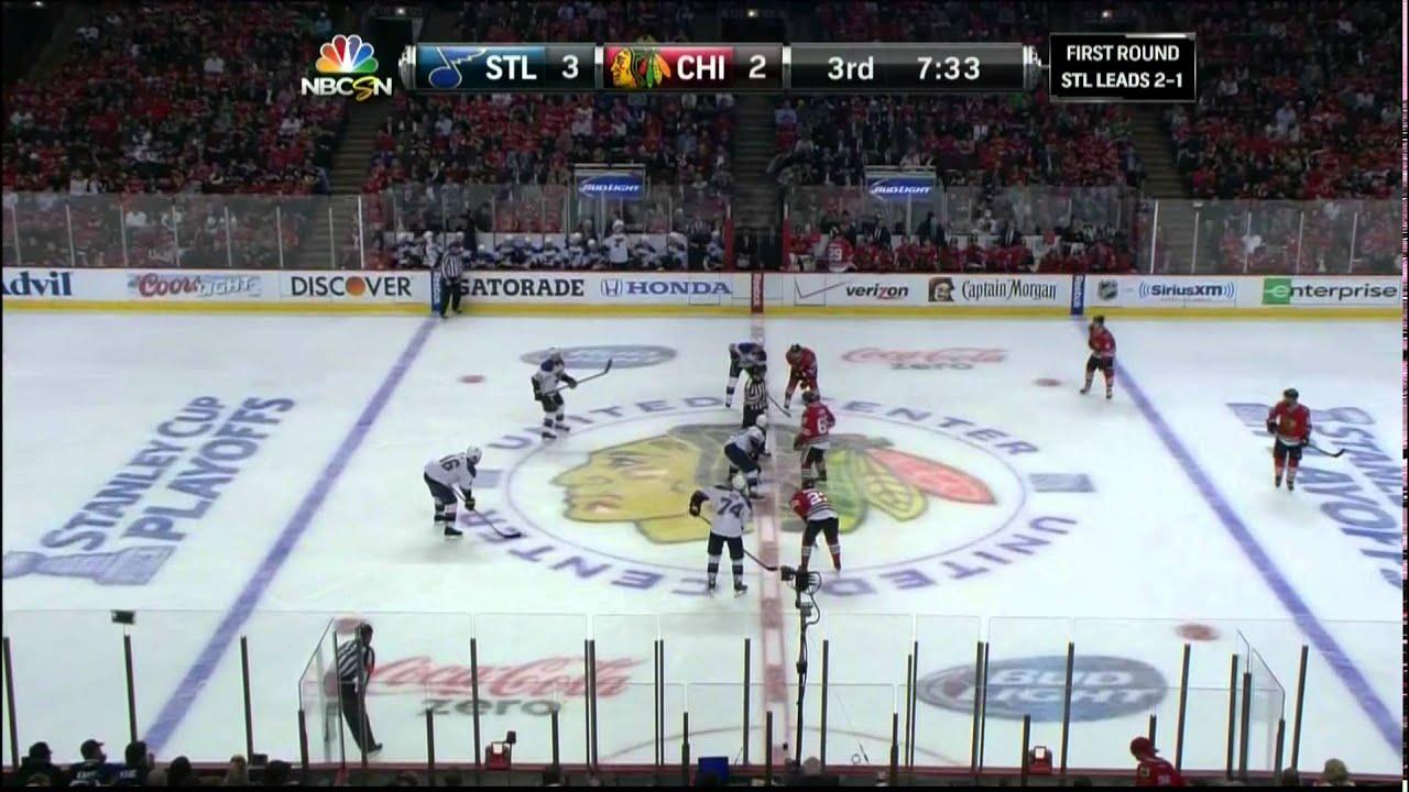Vladimir Tarasenko snipe wrist shot goal 3-2 St. Louis Blues vs Chicago Blackhawks 4/23/14 NHL