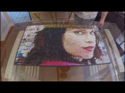 Artist Creates A Portrait By Injecting Into Bubble