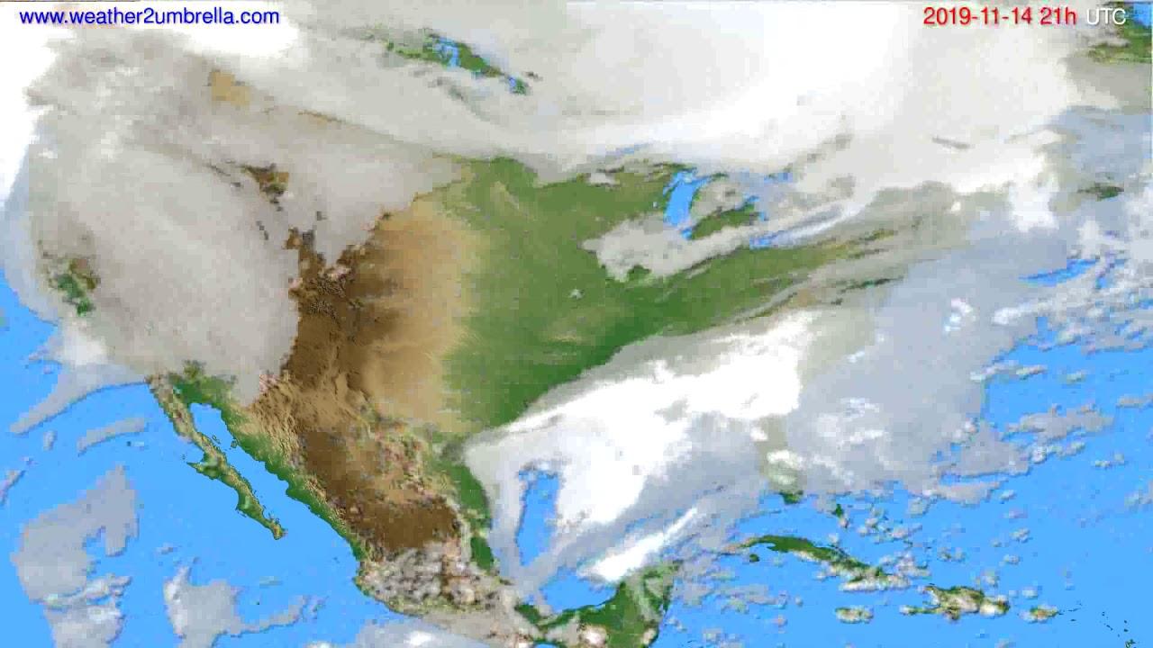 Cloud forecast USA & Canada // modelrun: 12h UTC 2019-11-13