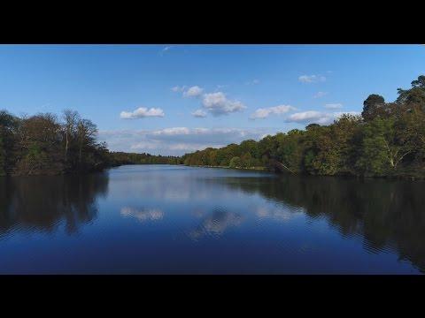 Phantom 4 Pro filming beautiful lake & gardens at Virginia Water (UK )