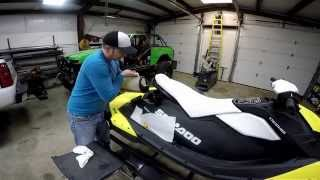 8. Sea-Doo Spark oil change with the top on