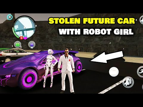 STOLEN FUTURE CAR WITH ROBOT GIRL IN GANGSTER OF VEGAS