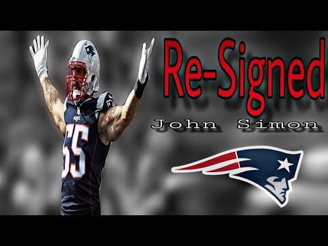 Patriots re-sign DE John Simon