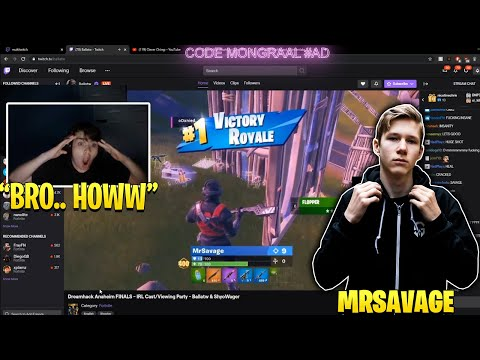Mongraal & Everyone SHOCKED When MrSavage Goes GOD MODE in Dreamhack Tournament!