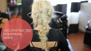 Deconstructed Bohemian Braid - from Rachel Zoe New York Fashion Week 2014 Spring Collection - YouTube