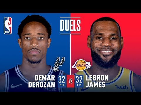 Video: DeMar DeRozan and LeBron James Duel It Out In Staples Center | October 22, 2018