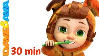 Video 👍 Nursery Rhymes Collection: Brush Your Teeth | Healthy Habits Songs | Kids Songs from Dave and Ava👍 MP3, 3GP, MP4, WEBM, AVI, FLV Agustus 2017