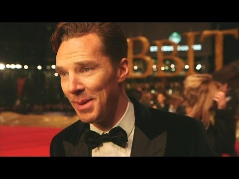 actor - More from The Hobbit Premiere: http://bit.ly/1hKH031 Benedict Cumberbatch, who plays the eponymous dragon in The Hobbit: The Desolation of Smaug, talks about...