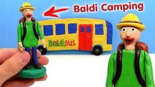 ЛЕПИМ БАЛДИ В ПОХОДЕ из игры Baldi's Basics Field Trip CAMPING | Видео Лепка