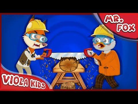 MR Fox | Woody Woodpecker Heating wood | Mr Fox Funny Cartoon for kids