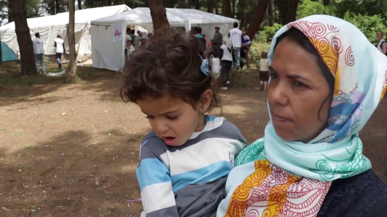 Εμβολιασμοί από τους Γιατρούς Χωρίς Σύνορα στην Ειδομένη (Int)