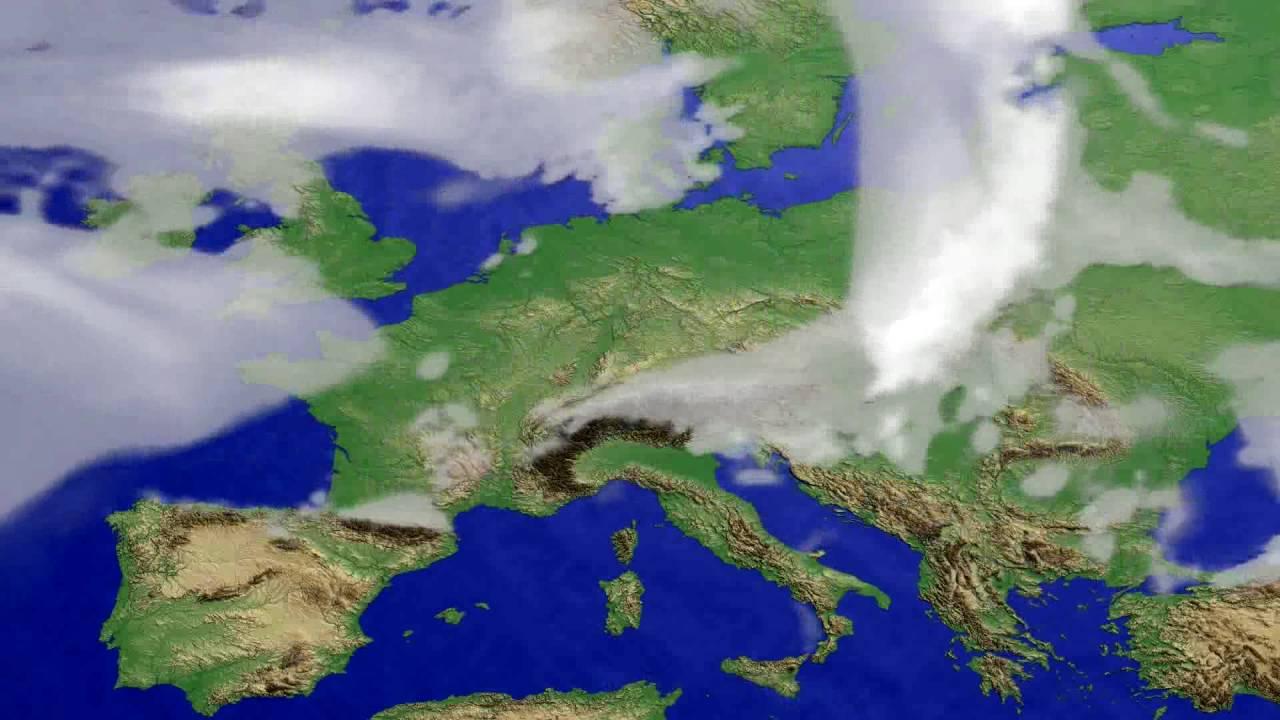Cloud forecast Europe 2016-06-30