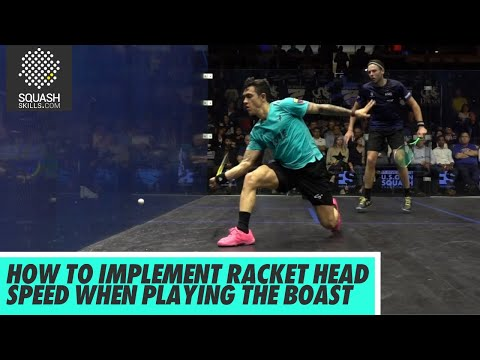 Squash Tips: How To Implement Racket Head Speed When Playing The Boast