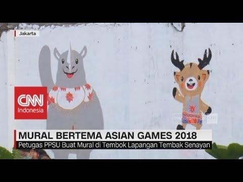 Mural Bertema Asian Games 2018