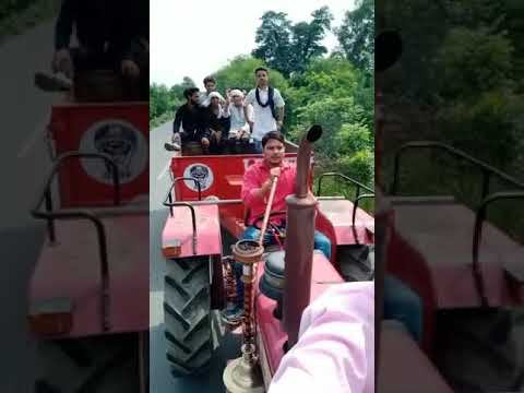 Jaat On Tractor With Hukka