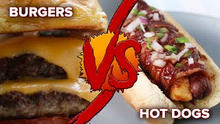 Burgers Vs. Hot Dogs by Tasty