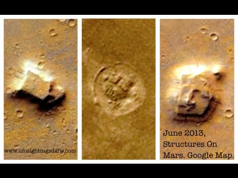 Structures Discovered On Mars Using Google Earth, June 2013, UFO Sighting News.