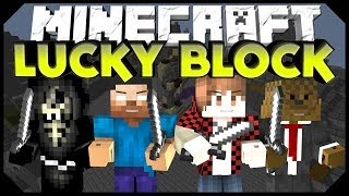 Minecraft: LUCKY BLOCK MAYHEM w/BajanCanadian, JeromeASF,&Taz (Modded Minigame)
