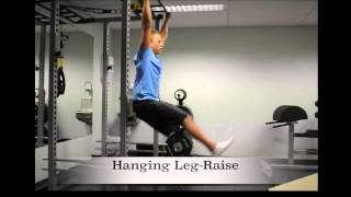 Exercise Index: Hanging leg-raise