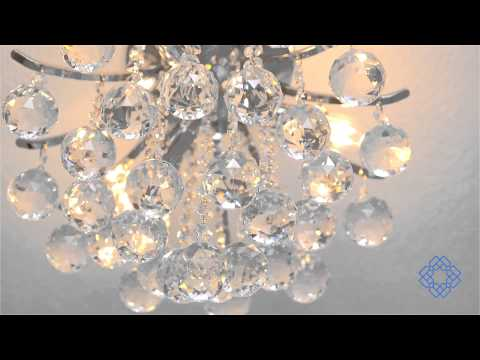 Video for Toureg Chrome Three-Light 12-Inch Flush Mount with Royal Cut Clear Crystal