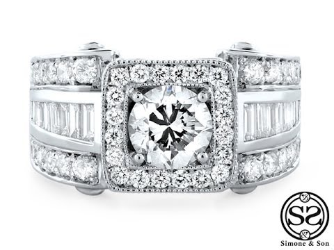 Channel Baguette & Pave Diamond Ring