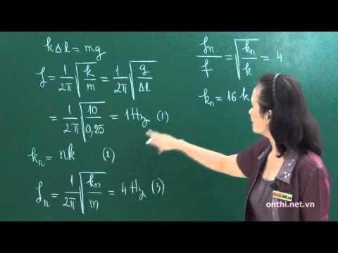 Chương I-Bài 10-Hệ lò xo mắc nối tiếp và mắc song song