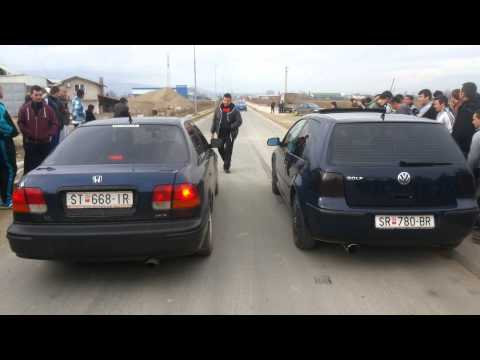 Strumica Drag Race 09.02.2014...Honda Civic vs Golf IV (видео)