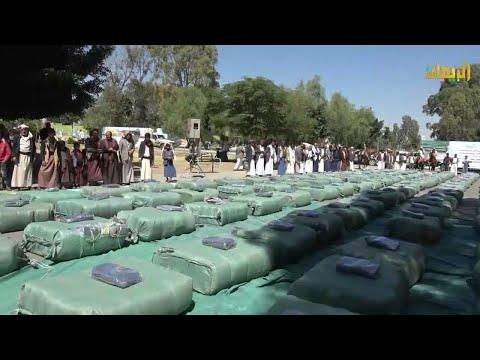 صنعاء - الدائرة الإجتماعية لأنصارالله تقدم قافلة تحرير مأرب الشتوية للمرابطين إحتفاءً المولد النبوي الشريف