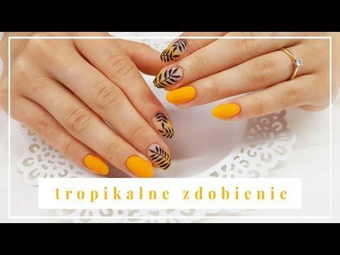 Gel nails - Ombre Hybrydami & Tropikalne Zdobienie  Hedonista, Arte Brillante, Super Matt