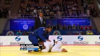 Beka Gviniashvili (Georgia) vs Quedjau Nhabali (Ukraine) World Judo Championships 2015 - AstanaJudo - 90kg