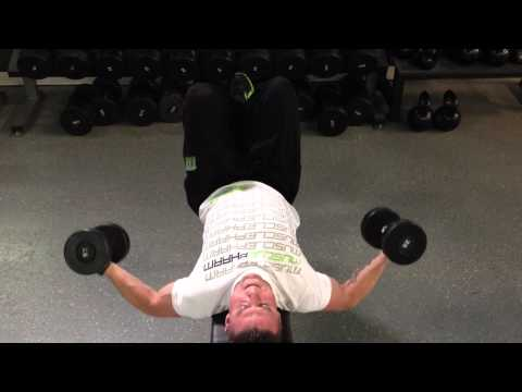 Flat Bench Dumbbell Fly Quarter Rep Pump Method