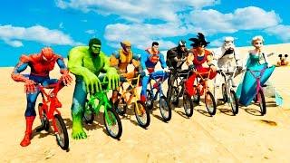 Video COLOR BMX BIKE EXTREME CHALLENGE w/ Spiderman, Batman, Hulk Cartoon for Kids and Babies MP3, 3GP, MP4, WEBM, AVI, FLV Desember 2018