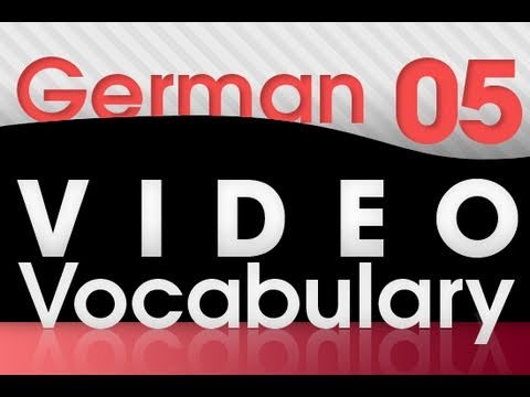 Learn German – Video Vocabulary #5