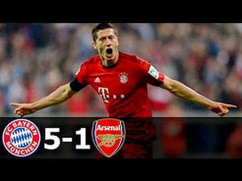 FC Bayern Munich VS FC Arsenal 5-1 UEFA Champions League 2017 8vos final IDA