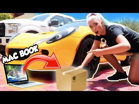 DONT RUN OVER THE WRONG MYSTERY BOX!! Expensive Items! MacBook, Makeup, Louis Vuitton