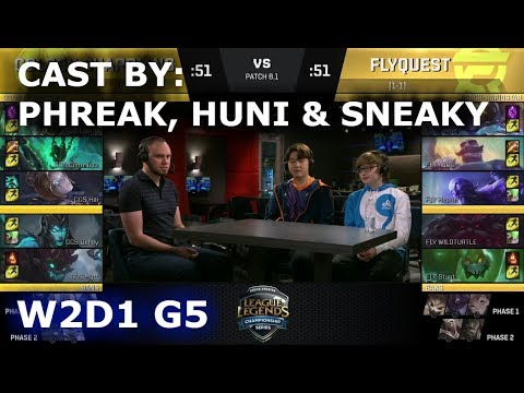 GGS vs FLY - Cast By Phreak, Huni & Sneaky (NALCS Lounge) | Week 2 Day 1 of S8 NA LCS Spring 2018