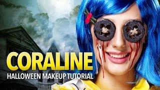 Coraline cosplay makeup and prop tutorial