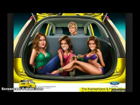 The Ford Ad You Were Never Supposed To See !!! ( Paris Hilton Ties Up Kim Kardashian )