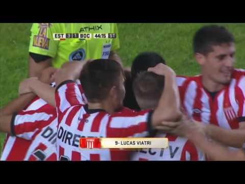 Gol de Viatri. Estudiantes 3 - Boca 1. Fecha 15. Primera División 2016.