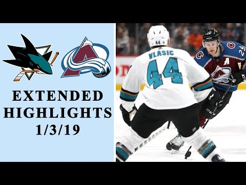 Video: San Jose Sharks vs. Colorado Avalanche | EXTENDED HIGHLIGHTS | 1/3/19 | NBC Sports